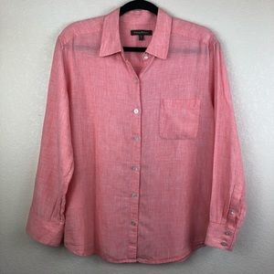 Tommy Bahama | Pink Button-Front Blouse